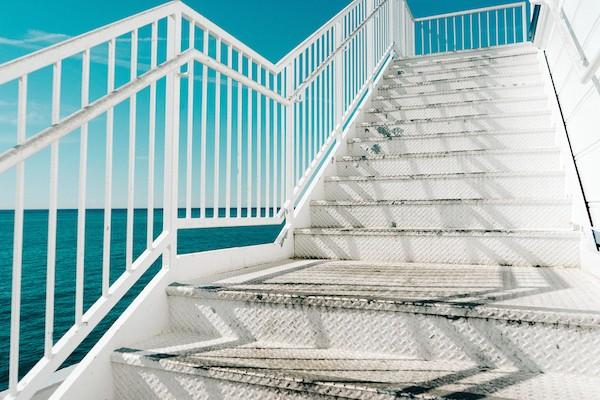 white-stairs