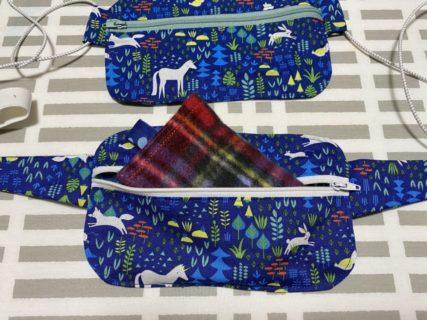 ハクキンカイロ用のベルトを、ダイソー生地で縫ってみた。