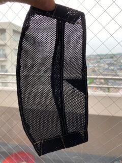 【試作】スースーマスクの型紙でスカスカマスクを作りました。